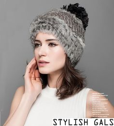 Stylish blended grey hat perfect for cold days – a unique product by StylishGals via en.DaWanda.com #elegant