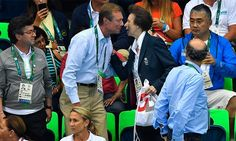Henri Grand Duke of Luxembourg greeted his fellow International Olympic Committee member Princess Anne at the pool. The pair sat together and chatted as they watched the women's 200m Individual medley together on Day 4.