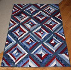 patriotic string quilt