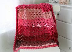 This is a pattern for a beginner level crochet baby blanket (baby afghan) made with Caron Cakes yarn in Cherry Chip color and a size mm) hook. Finished size is approximately 38 by 33 inches. You will need two skeins of Caron Cakes. Caron Cake Crochet Patterns, Baby Afghan Patterns, Baby Afghans, Baby Blanket Crochet, Crochet Poncho, Chrochet, Baby Blankets, Crochet Gratis, Free Crochet