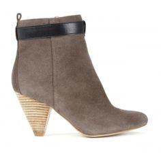Vivienne ankle bootie - Mushroom Black
