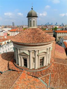 Milan (Italy) - Tiburium of the  Basilica of San Vittore seen from the bell tower
