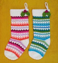Free Crochet Pattern: Fabulously Festive Christmas Stockings | Gleeful Things