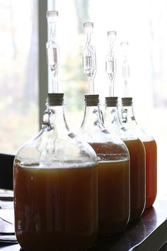 I have always wanted to make my own cider. Making Hard Cider - Chiot's Run Make Apple Cider Vinegar, Hard Apple Cider, Homemade Apple Cider, Making Hard Cider, Homemade Liquor, Homebrew Recipes, How To Make Beer, Fermented Foods, Home Brewing