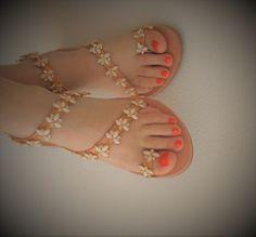 VALENTINE'S GIFT! Bridal Flat Sandals, Greek Leather Sandals for Beach, Seaside Wedding Sandals, Luxurious Flats, Rhinestones Shoe Flat Sandal, Luxury Chic by ENOTIA on Etsy