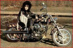 Joan #celebrities #motorcycle