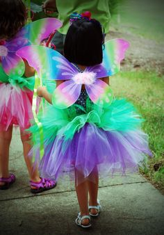 Fairy tutu; party favors, pirates & pixies; green & purple. By Enchanted Ever After.