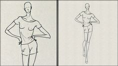 Fashion Art how-to videos - Female Relaxed Standing Pose