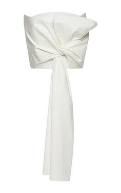 This strapless **Delpozo** top features an oversized bow at the front and a cropped hem.