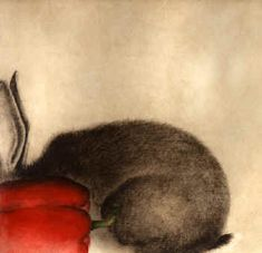 """Lapin au Poivron Rouge - Rabbit with Red Pepper"" 