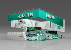 """Fuji"" exhibition stand by ambartsum kesian, via Behance"