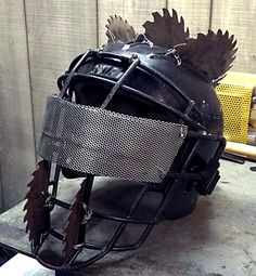 Wasteland Raider Saw Helmet by Roll4Damage on Etsy, $175.00