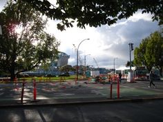 Blue Bridge and construction project for new bridge