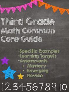 Third Grade Math Common Core Guide