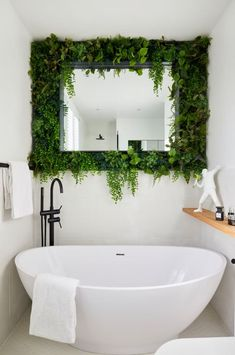 Monday Inspiration: Beautiful Rooms - Mad About The House Bathroom Design Inspiration, Bathroom Interior Design, Bathroom Designs, Mad About The House, Bathroom Plants, Bathrooms With Plants, My New Room, Interior Architecture, Bedroom Decor