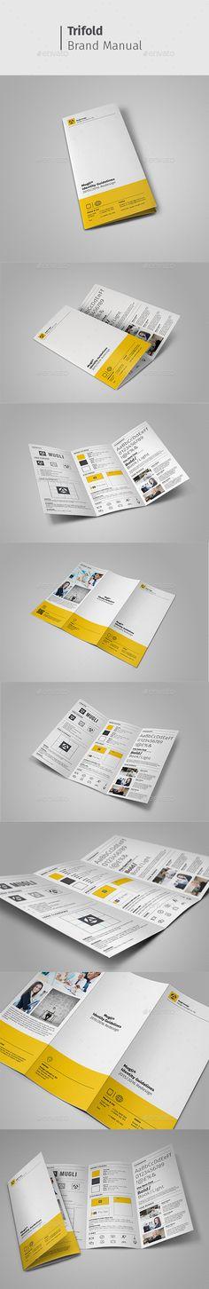 Brand Manual Brochure Template PSD #design Download: http://graphicriver.net/item/brand-manual/13250631?ref=ksioks