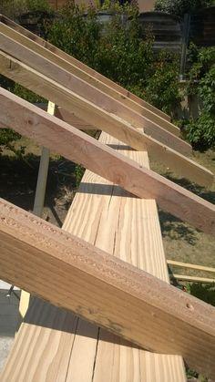 Extension d'une habitation - détail des bois. Pose effectuée au millimètre !