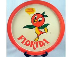 The Orange Bird - Walt Disney Productions Metal Serving Tray - Vintage Florida Souvenir - Think Orange by ShellyRe on Etsy Disney Home, Disney Fun, Disney Parks, Walt Disney, Vintage Florida, Old Florida, Disney Enchanted, Florida Oranges, Orange Bird