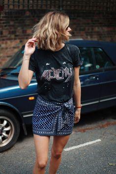 adenorah: LA STYLESkagen bag - Skagen watch - Isabel marant skirt -vintage t-shirt - topshop shoes