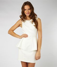 Lipsy Peplum Waffle Dress (The back detail of this dress makes me love it even more! Click on the link of the dress below to see it...)
