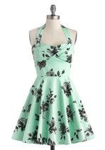 Traveling Cupcake Truck Dress in Mint Roses | Mod Retro Vintage Dresses | ModCloth.com #Womens-Fashion