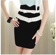bow ruffles high waist bodycon pencil skirt (knee length) - just a picture but sooo sweet ;)