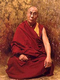 The Dalai Lama...I love his beliefs, I love his beautiful calmness & I love his sense of humour...he's awesome!