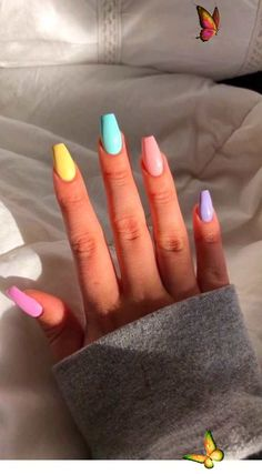 Nails Coffin Short . Nails Coffin Short<br> Acrylic Nails Coffin Short, Simple Acrylic Nails, Blue Acrylic Nails, Acrylic Nails For Fall, Bright Summer Acrylic Nails, Short Square Acrylic Nails, Blue Coffin Nails, Stiletto Nails, Nagellack Design