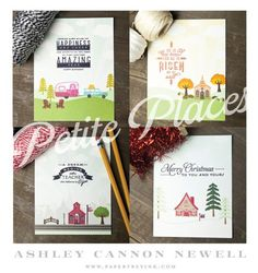 Project by Ashley Newell for Papertrey Ink - November 2015 - Petite Places: Walk In the Park - #AshleyNewell #PaperSource #PapertreyInk