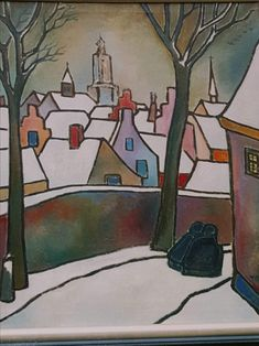 Illustrations, Winter, Painting, Paint, Shop Signs, Kunst, Winter Time, Illustration, Painting Art