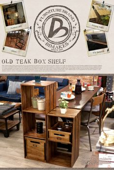 【楽天市場】深みのある古木を使用しIRONのアクセントが魅力! OLD TEAK BOX SHELF (L)(オールドチークボックスシェルフ L ) BIMAKES(ビメイクス) 送料無料:家具・インテリア・雑貨 ビカーサ
