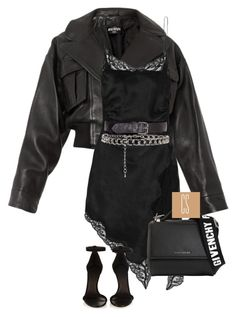 """""""Untitled #1243"""" by vladacatalleyag on Polyvore featuring Balmain, Alexander Wang, Givenchy and Isabel Marant"""