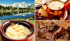 Best Italian dishes from each region - Valle D'Aosta - From top right: Fonduta, Carbonade and Soupe Valpellinentze