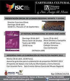 Cartelera Cultural del Museo Regional del Valle del Fuerte, Los Mochis