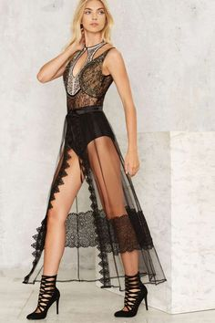 Unveiled Sheer Lace Wrap Skirt - Clothes | Romantic Revolution | Maxi