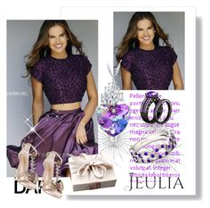 """Jeulia Jewelry"" by lip-balm ❤ liked on Polyvore featuring Sherri Hill, Dsquared2, women's clothing, women's fashion, women, female, woman, misses, juniors and jeulia"