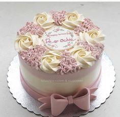 Ideas birthday cake decorating flowers ideas for 2019 Cake Decorating Videos, Birthday Cake Decorating, Cake Decorating Techniques, Cake Birthday, Birthday Cake Designs, Birthday Design, Decorating Ideas, Cake Icing, Buttercream Cake