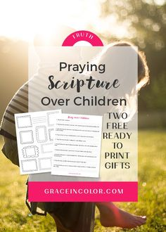 Praying scripture over children, both ours and others we love, is important and beautiful. Here are 10 ways you can pray scripture over children today. Sermon On Prayer, Prayer Scriptures, Christian Families, Christian Marriage, Christian Women, Christian Living, Christian Parenting Books, Raising Godly Children, Prayers For Healing