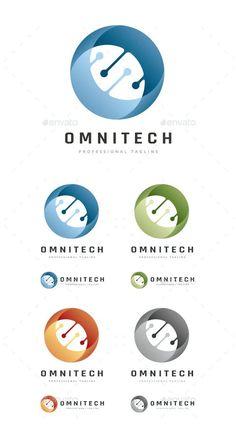 Abstract Circular Technologies Logo Template PSD, AI, EPS