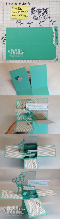Pop-Up Box Card: Video tutorial on making these fabulous cards simple, from LovenStamps