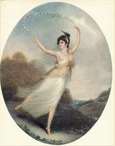 Antique Old Vintage Art Print c19th Ballerina Parisot Opera Singer Ballet Dancer