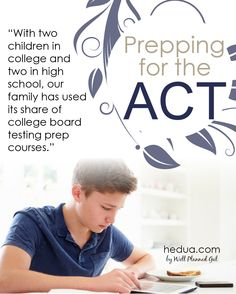 With two children in college and two in high school, our family has used its share of college board testing prep courses!