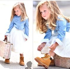 Timberland shoes...Olivia will wear this. I love little girls in timbs!!!!