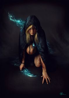 The glowing blades look like something brooke and zane would use, not sure who the girl in the pic would be though