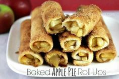 Baked apple pie roll ups..yummy!