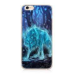 Painted Soft TPU Case for iPhone 6 6S 5 5S SE 7 Plus 6Plus Wolf Flowers Plants Landscape Printed Pattern Phone Bag Case Cover