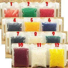 400 partikel/lot wasser perlen Perle geformt Kristallboden Wasser Perlen Schlamm Wachsen Magische geleekugeln hochzeit Home Decor