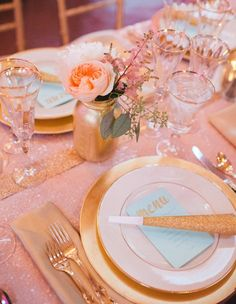 Trisha says...start a new tradition with pink and gold.  Colors of elegance.