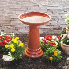 Smart Garden Aviatra Solara Orange Transitions Birdbath-207104-OR - The Home Depot