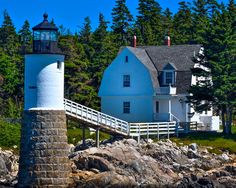 Maine Lighthouses and Beyond: Isle au Haut (Robinson Point) Lighthouse. To enjoy my site on lighthouses, click on the above photo.